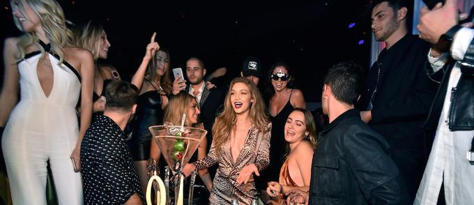 Gigi Hadid Celebrates Official 21st Birthday at Intrigue